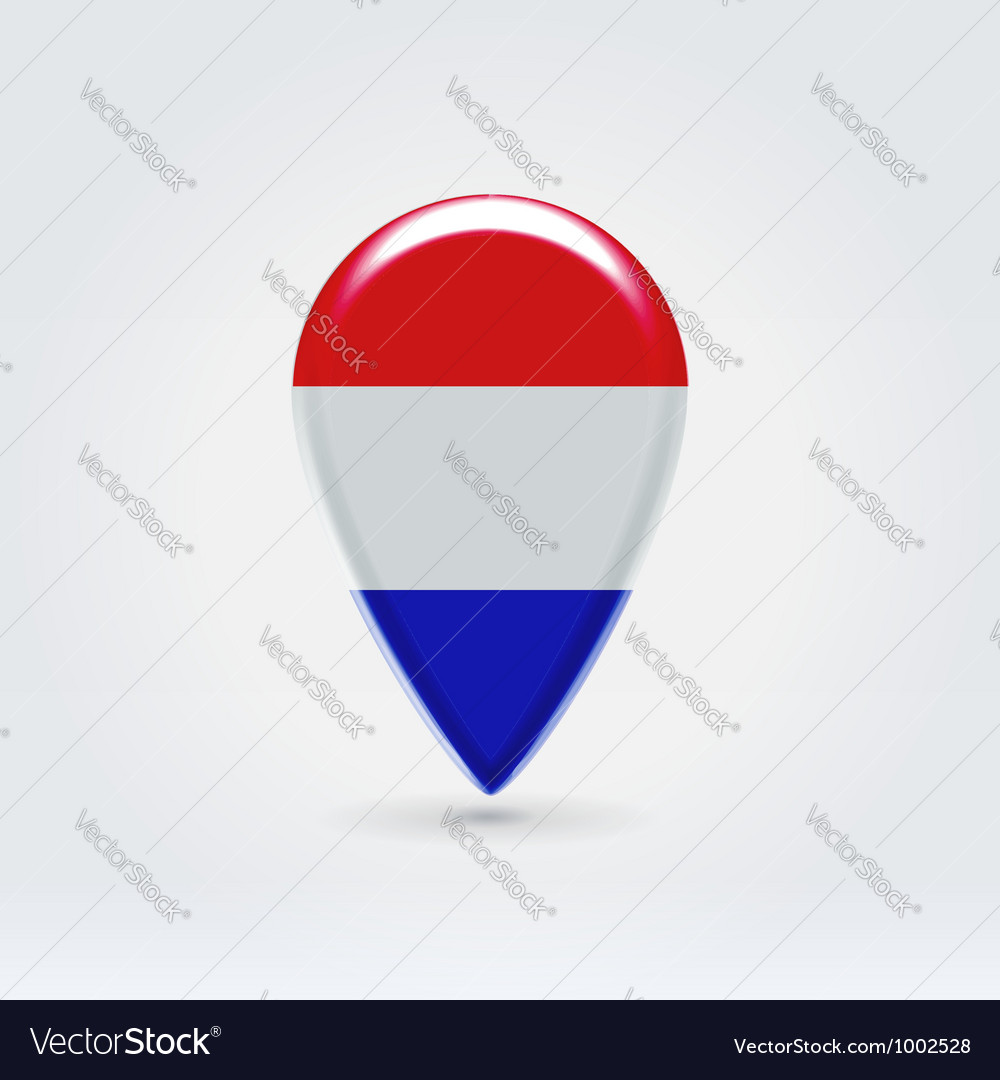 Luxembourg icon point for map vector | Price: 1 Credit (USD $1)