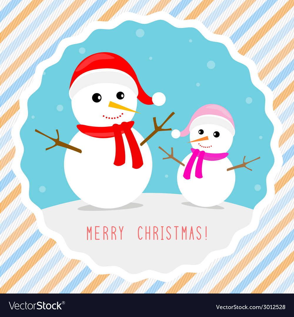 Merry christmas greeting card5 vector | Price: 1 Credit (USD $1)