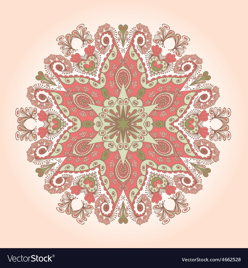 Round lace vector | Price: 1 Credit (USD $1)