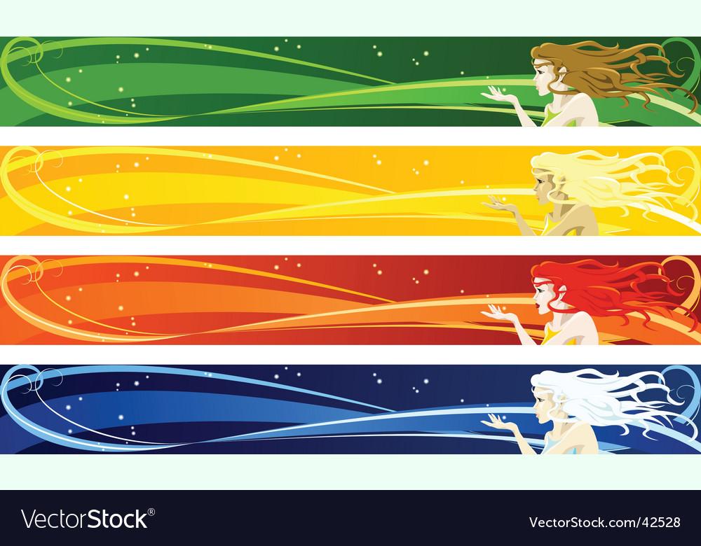 Seasonal banners vector   Price: 3 Credit (USD $3)