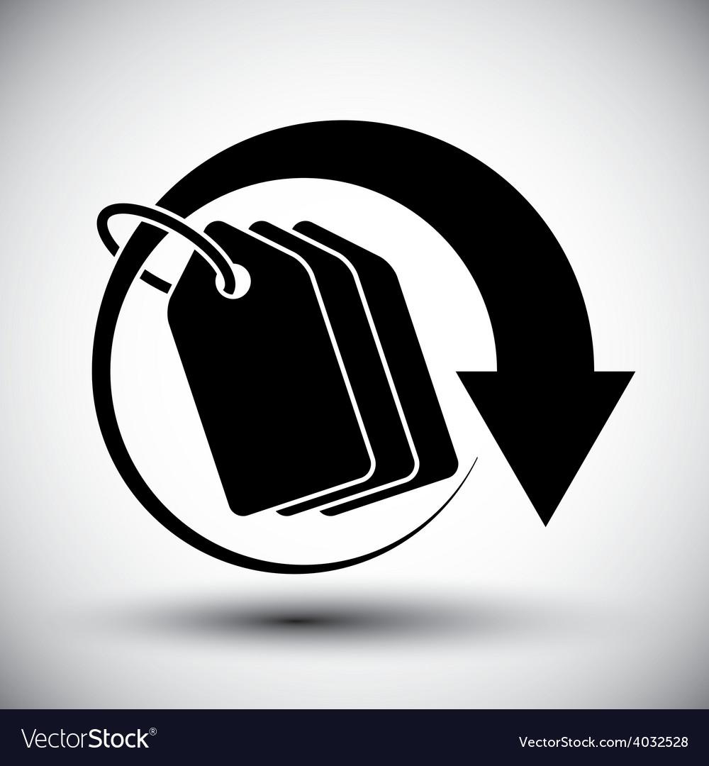 Tag retail theme simple single color icon vector   Price: 1 Credit (USD $1)