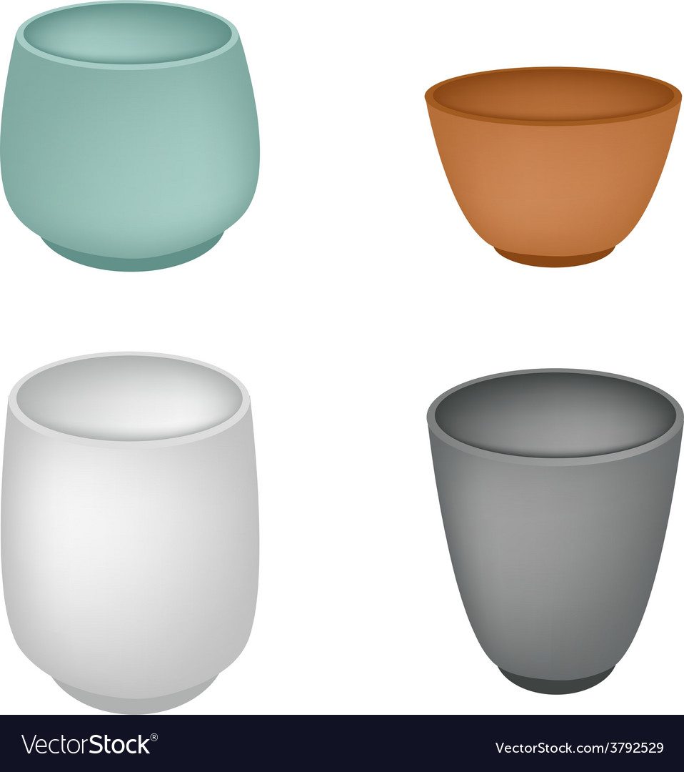 A set of japanese yunomi tea cup vector | Price: 1 Credit (USD $1)
