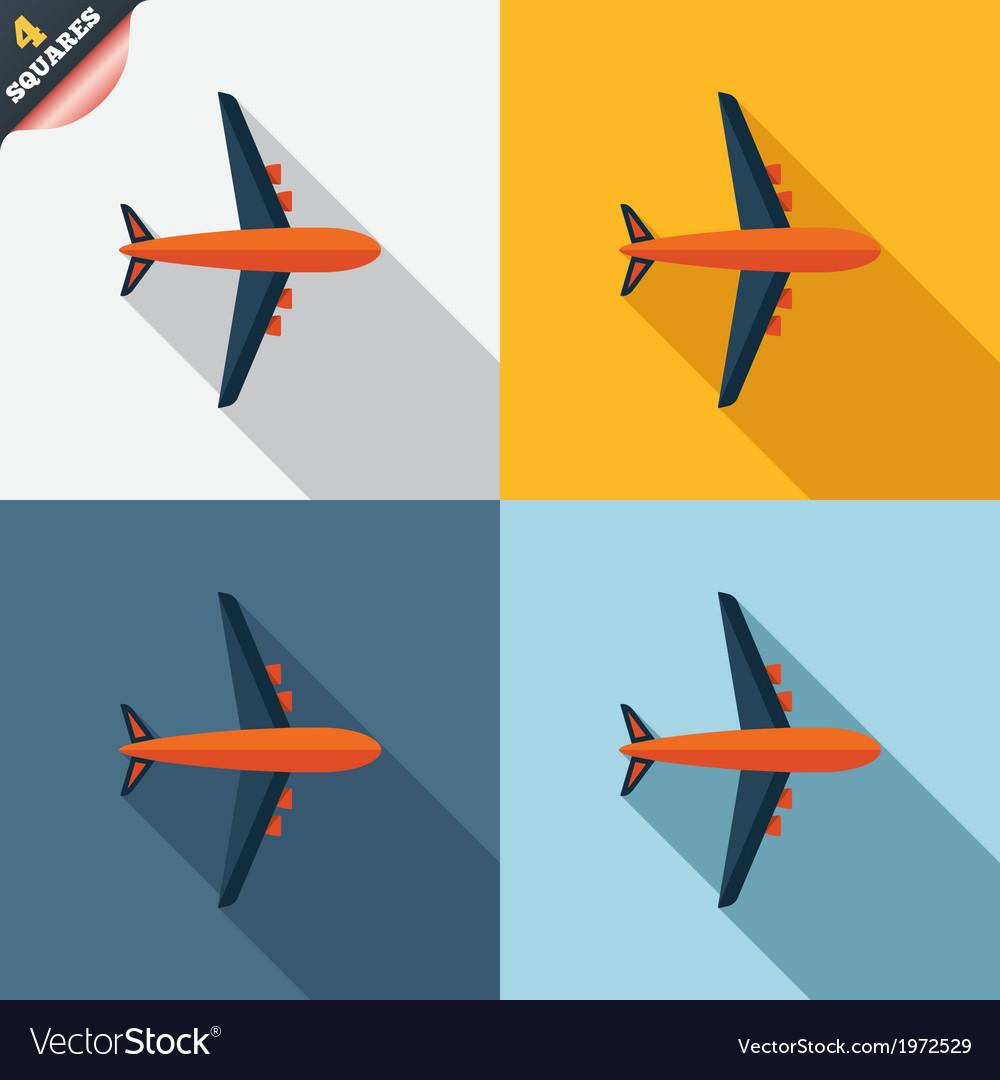 Airplane sign plane symbol travel icon vector | Price: 1 Credit (USD $1)