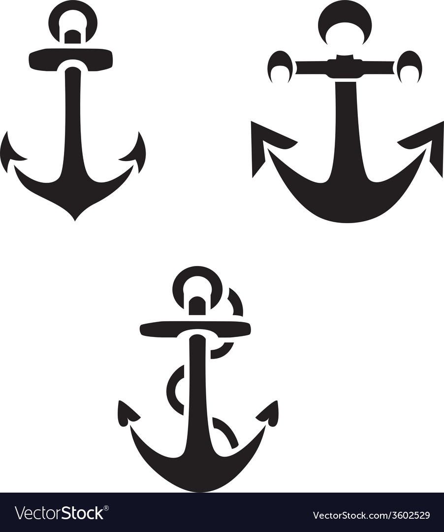 Anchor silhouettes vector | Price: 1 Credit (USD $1)
