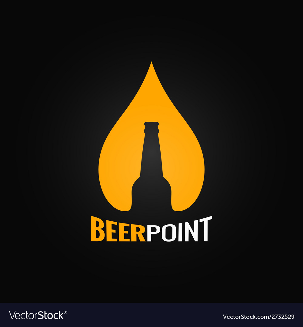Beer glass bottle drop design background vector | Price: 1 Credit (USD $1)
