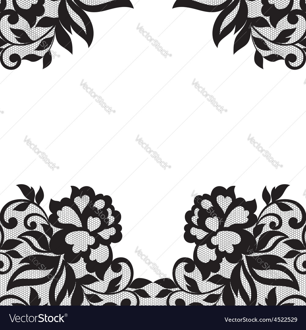 Black flower lace ornament vector | Price: 1 Credit (USD $1)