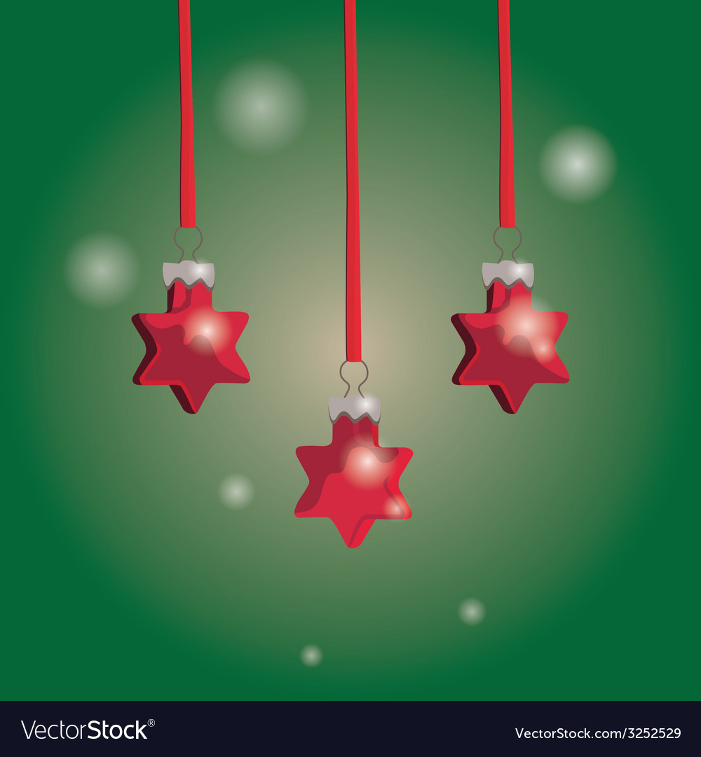 Christmas tree ornaments vector | Price: 1 Credit (USD $1)