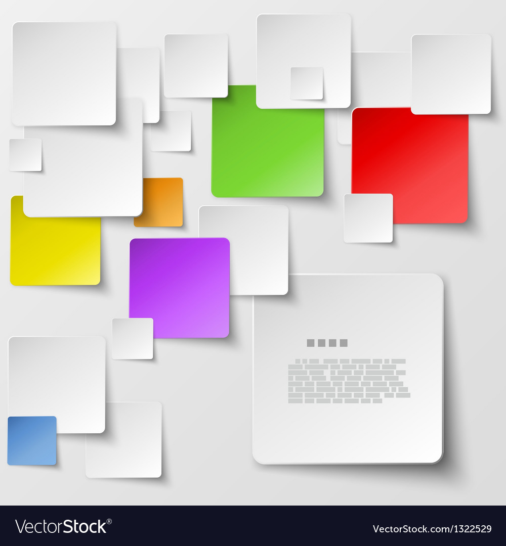 Color square tiles abstract background vector | Price: 1 Credit (USD $1)