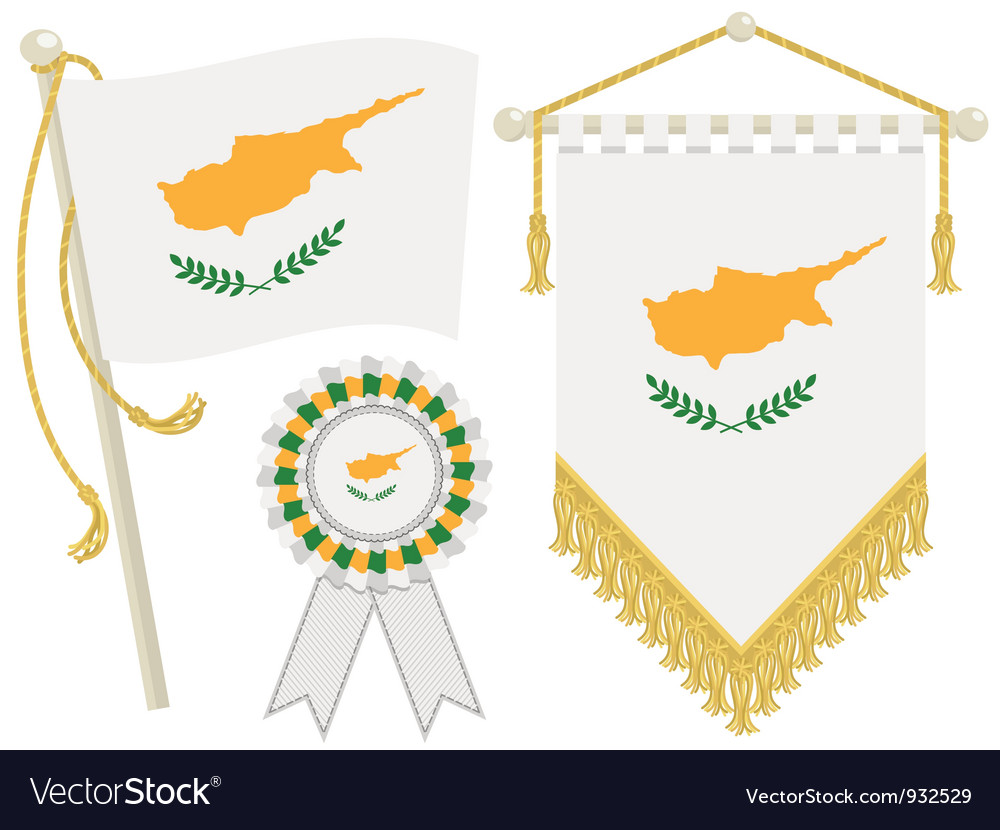 Cyprus flags vector | Price: 1 Credit (USD $1)