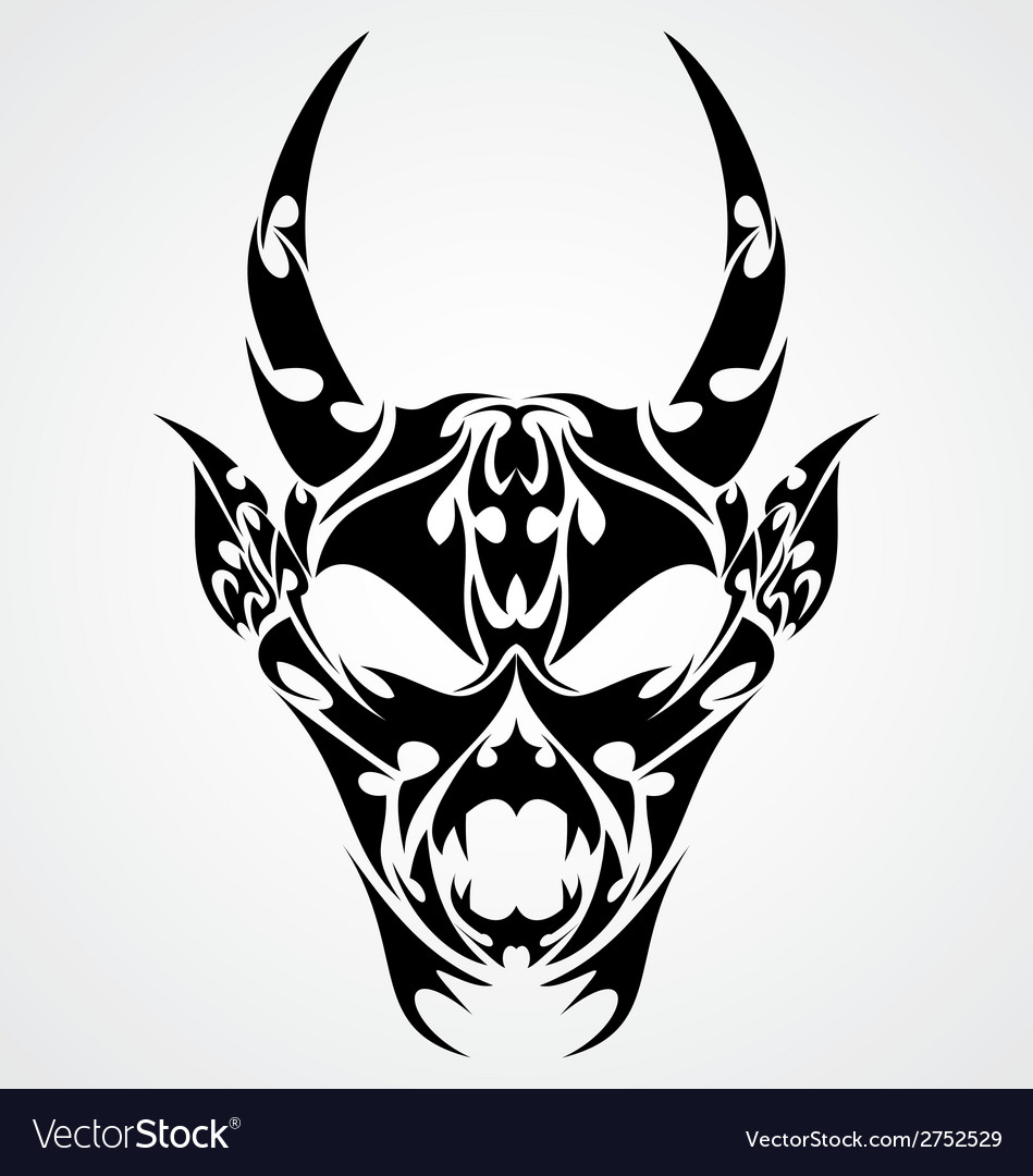 Devil head tattoo design vector | Price: 1 Credit (USD $1)