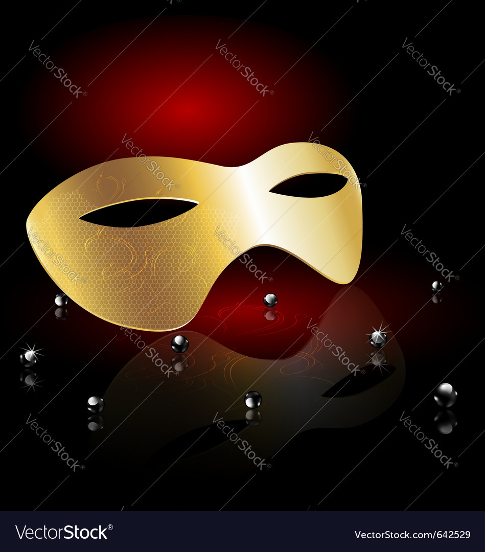 Golden carnival half-mask vector | Price: 1 Credit (USD $1)