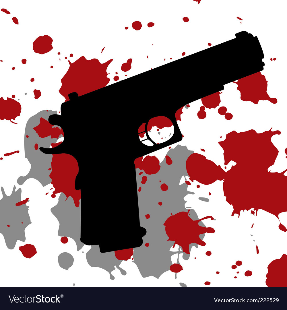 Gun blood vector | Price: 1 Credit (USD $1)