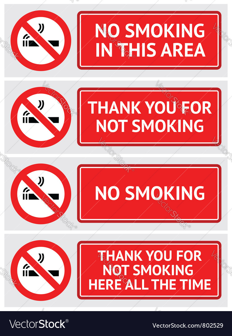Labels set no smoking stickers vector | Price: 1 Credit (USD $1)