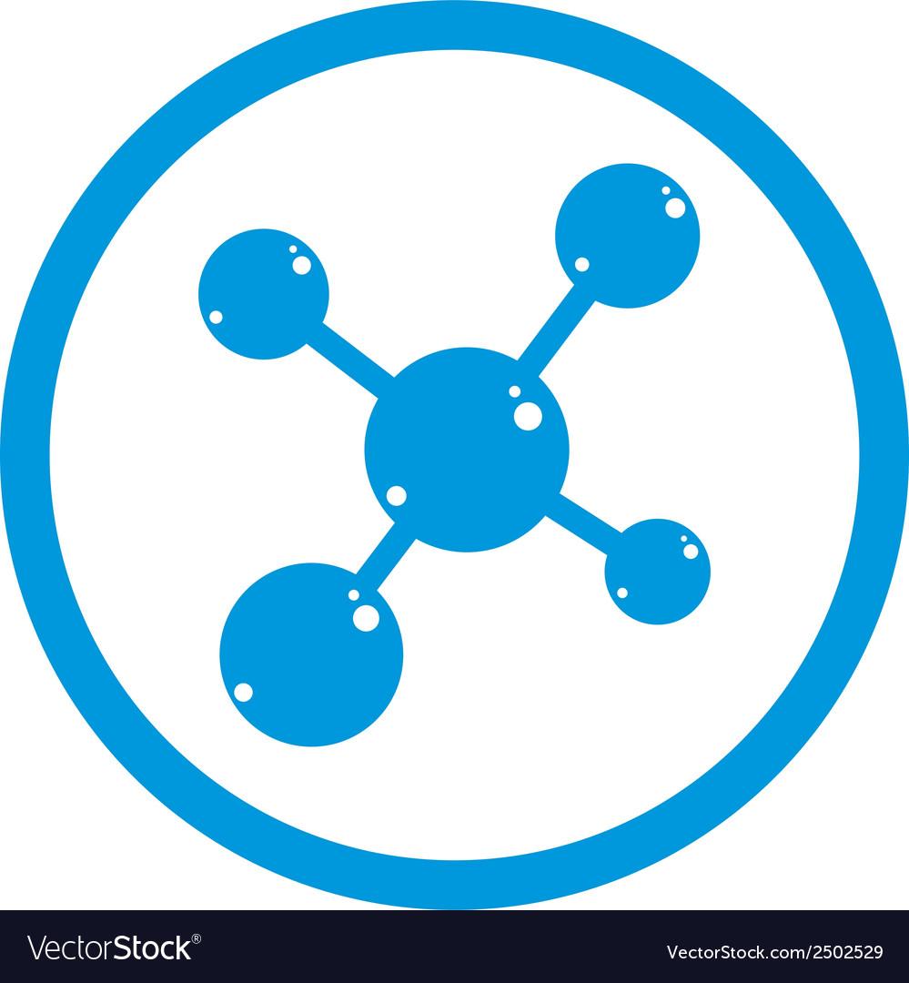 Molecule icon single color symbol vector | Price: 1 Credit (USD $1)