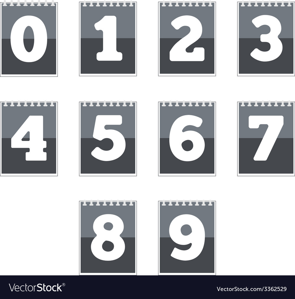 Number icons vector | Price: 1 Credit (USD $1)