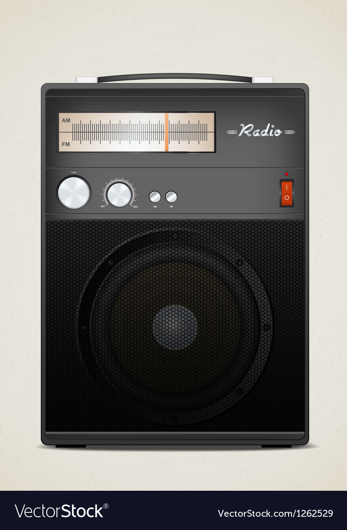Retro radio vector | Price: 1 Credit (USD $1)