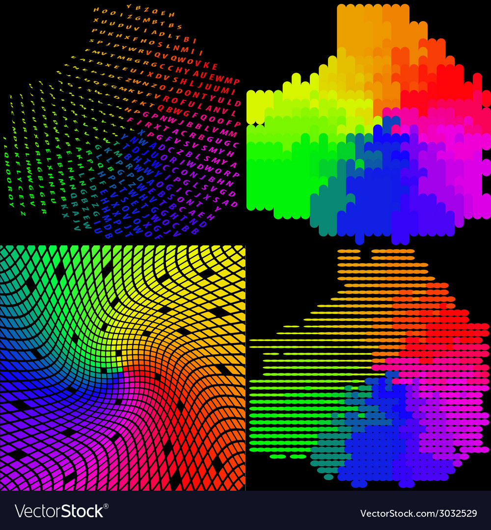 Set of abstract rainbow colorful background vector | Price: 1 Credit (USD $1)