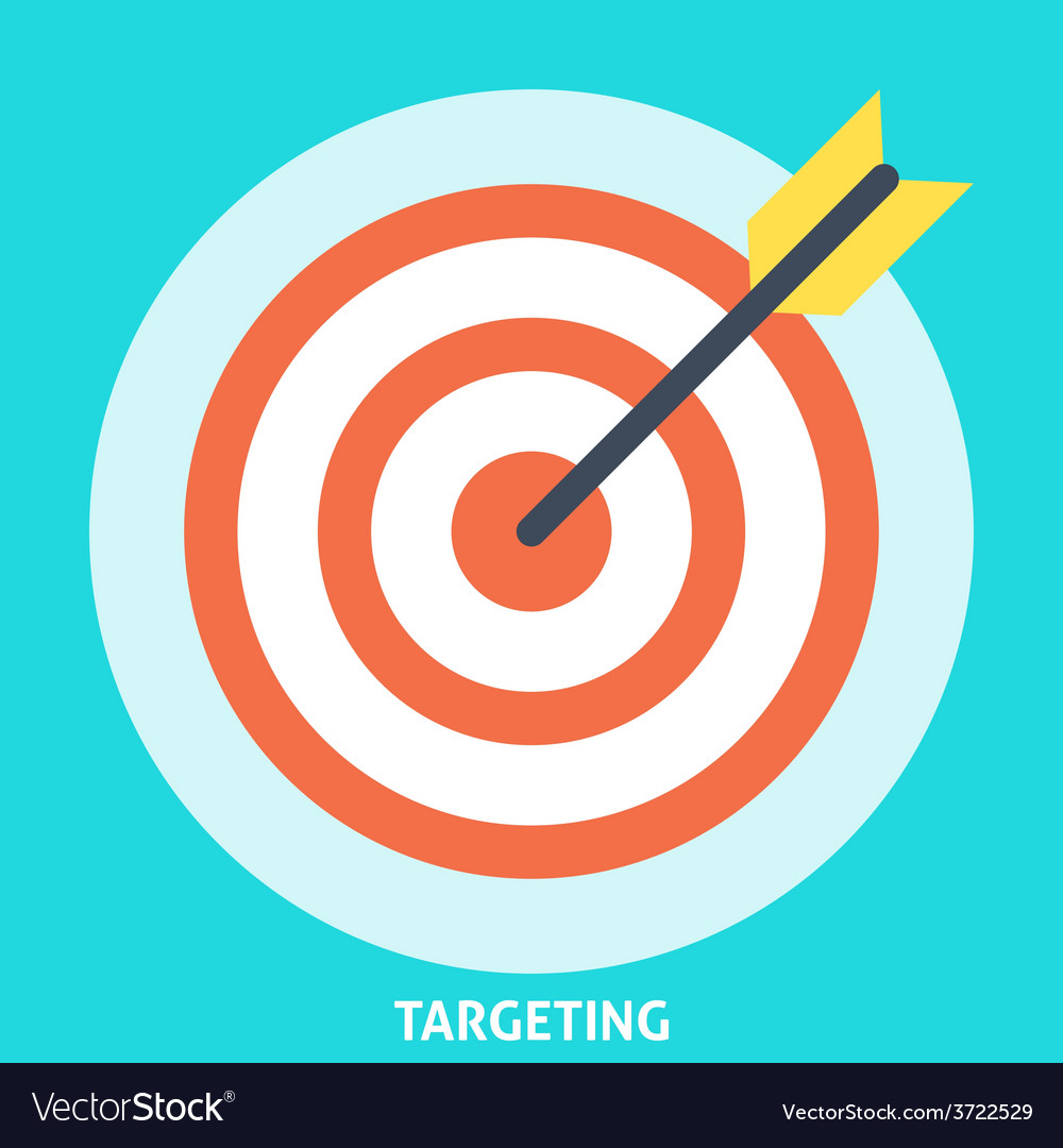 Targeting icon flat vector | Price: 1 Credit (USD $1)