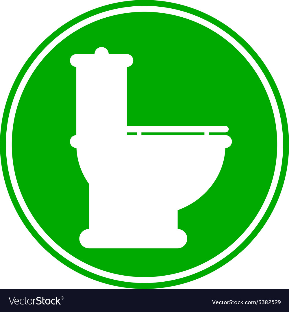 Toilet button vector | Price: 1 Credit (USD $1)