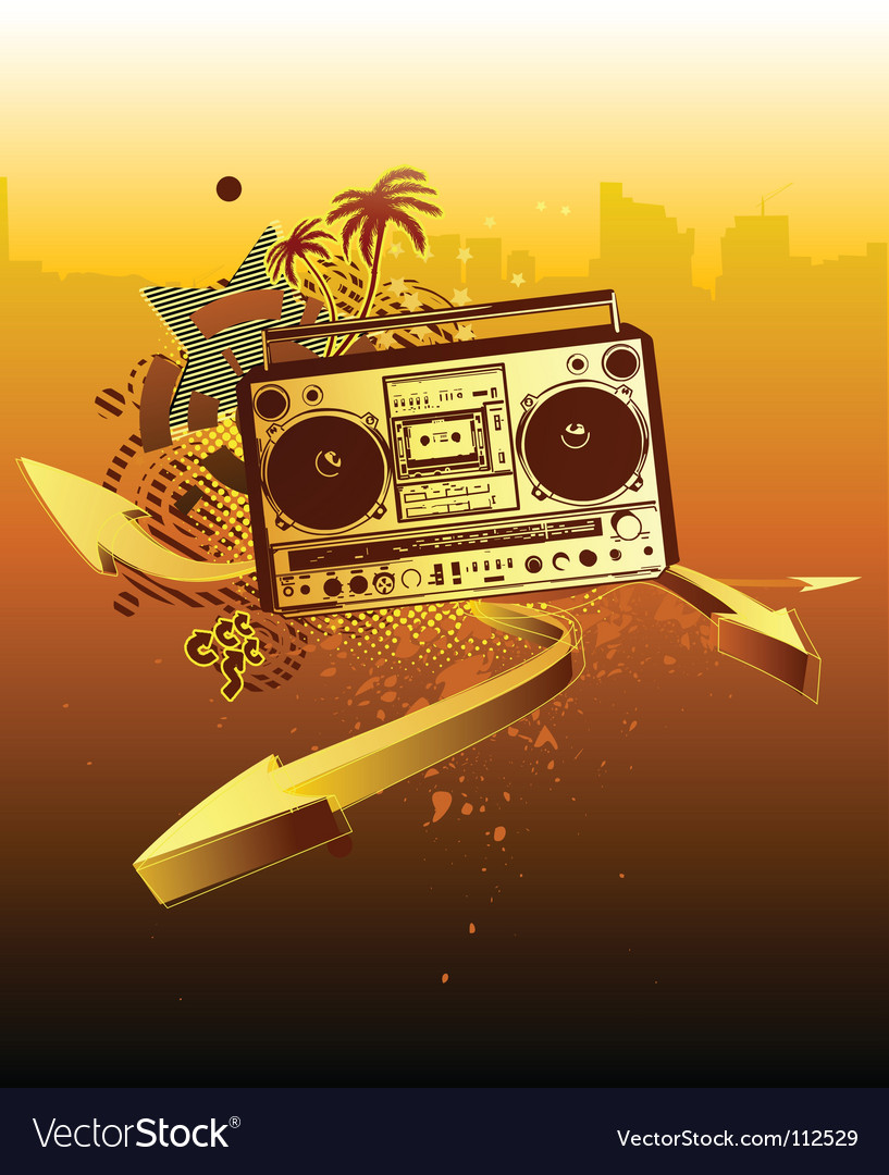 Urban music background vector | Price: 1 Credit (USD $1)