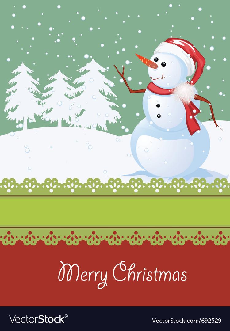 Winter celebration card vector | Price: 1 Credit (USD $1)