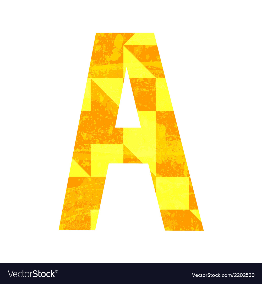 Abstract color alphabet a vector   Price: 1 Credit (USD $1)