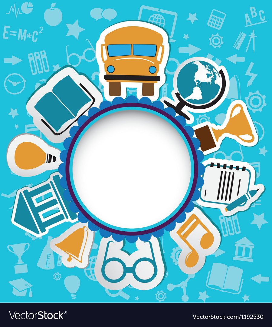 Background with education icons vector   Price: 1 Credit (USD $1)