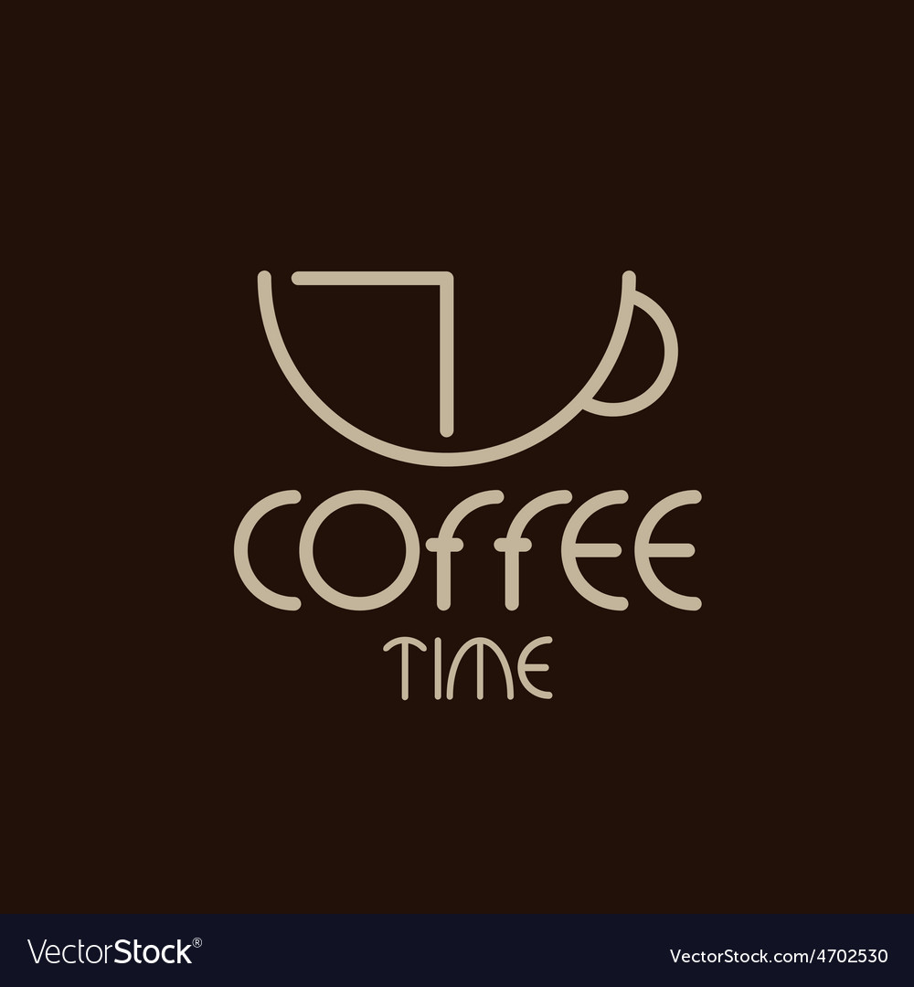 Coffee time concept design template vector | Price: 1 Credit (USD $1)