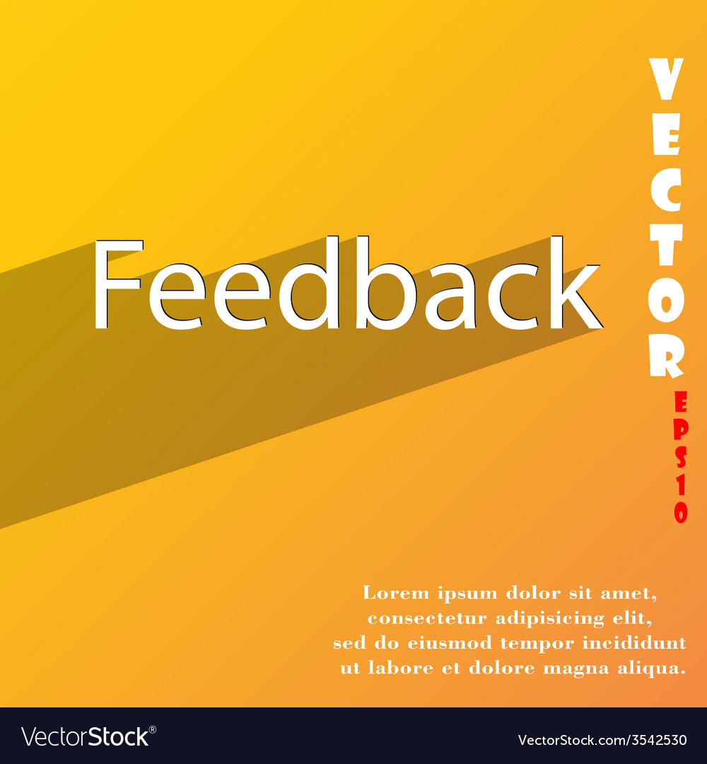 Feedback icon symbol flat modern web design with vector | Price: 1 Credit (USD $1)