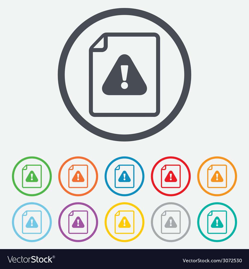 File attention sign icon exclamation mark vector | Price: 1 Credit (USD $1)