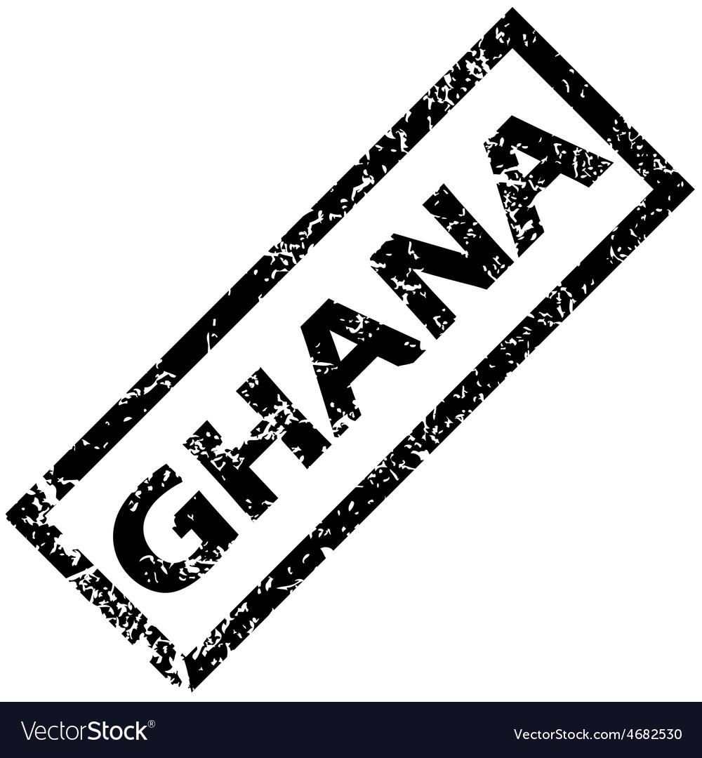 Ghana rubber stamp vector | Price: 1 Credit (USD $1)