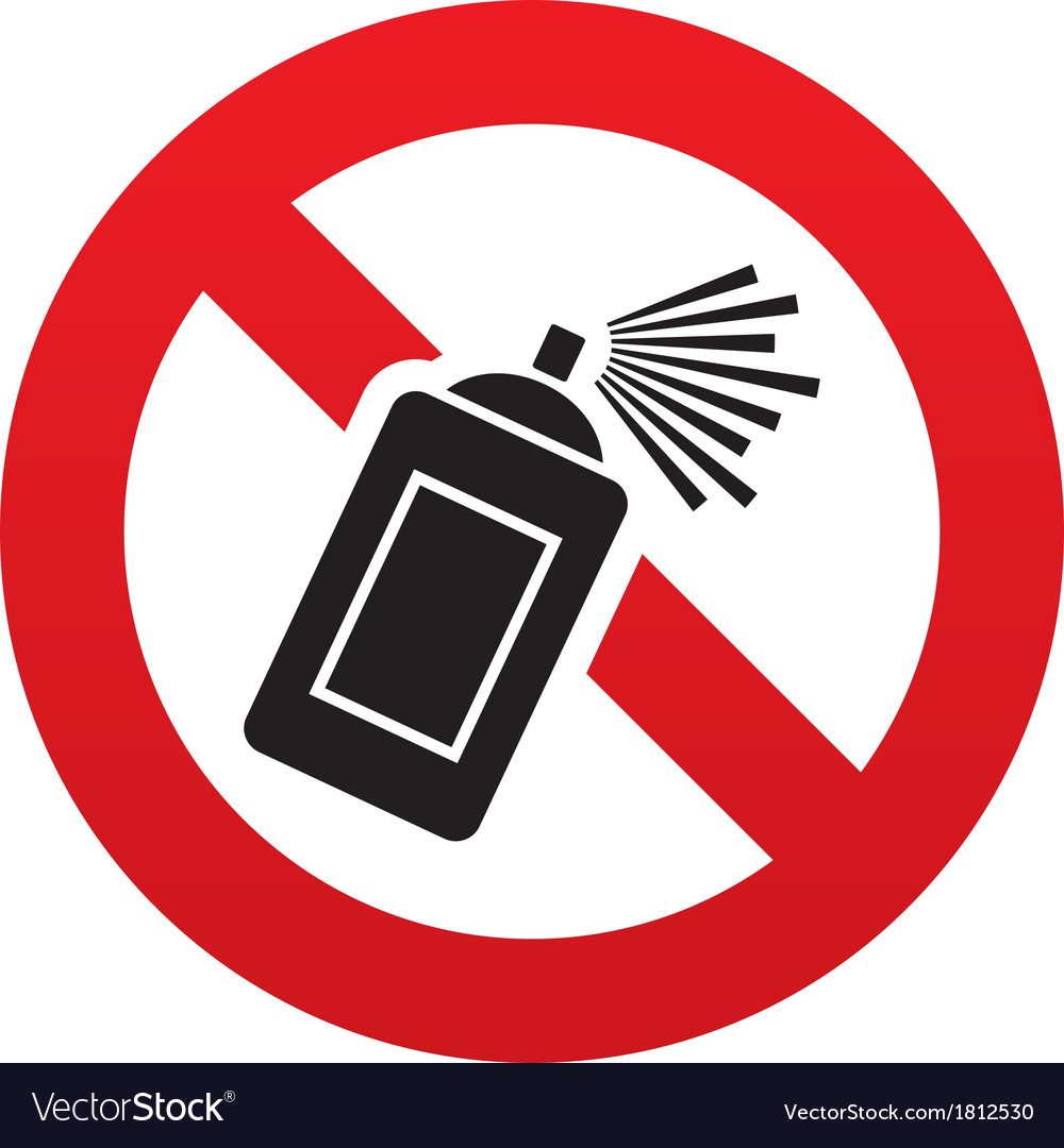 No graffiti spray sign icon aerosol paint symbol vector | Price: 1 Credit (USD $1)
