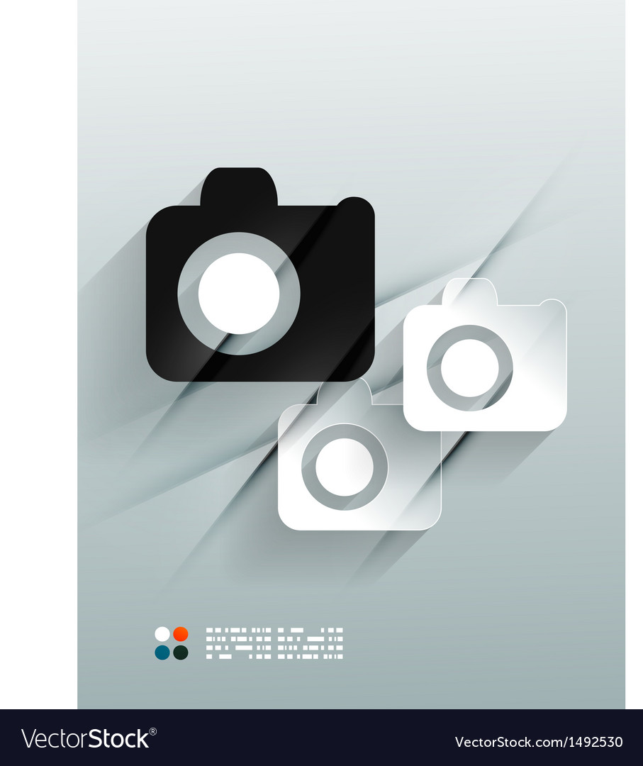 Photo 3d paper design vector   Price: 1 Credit (USD $1)