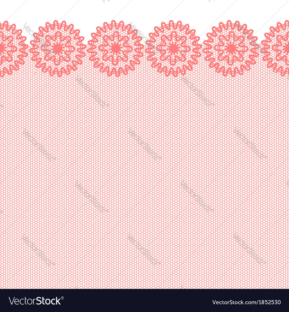 Red seamless lacy border vector | Price: 1 Credit (USD $1)