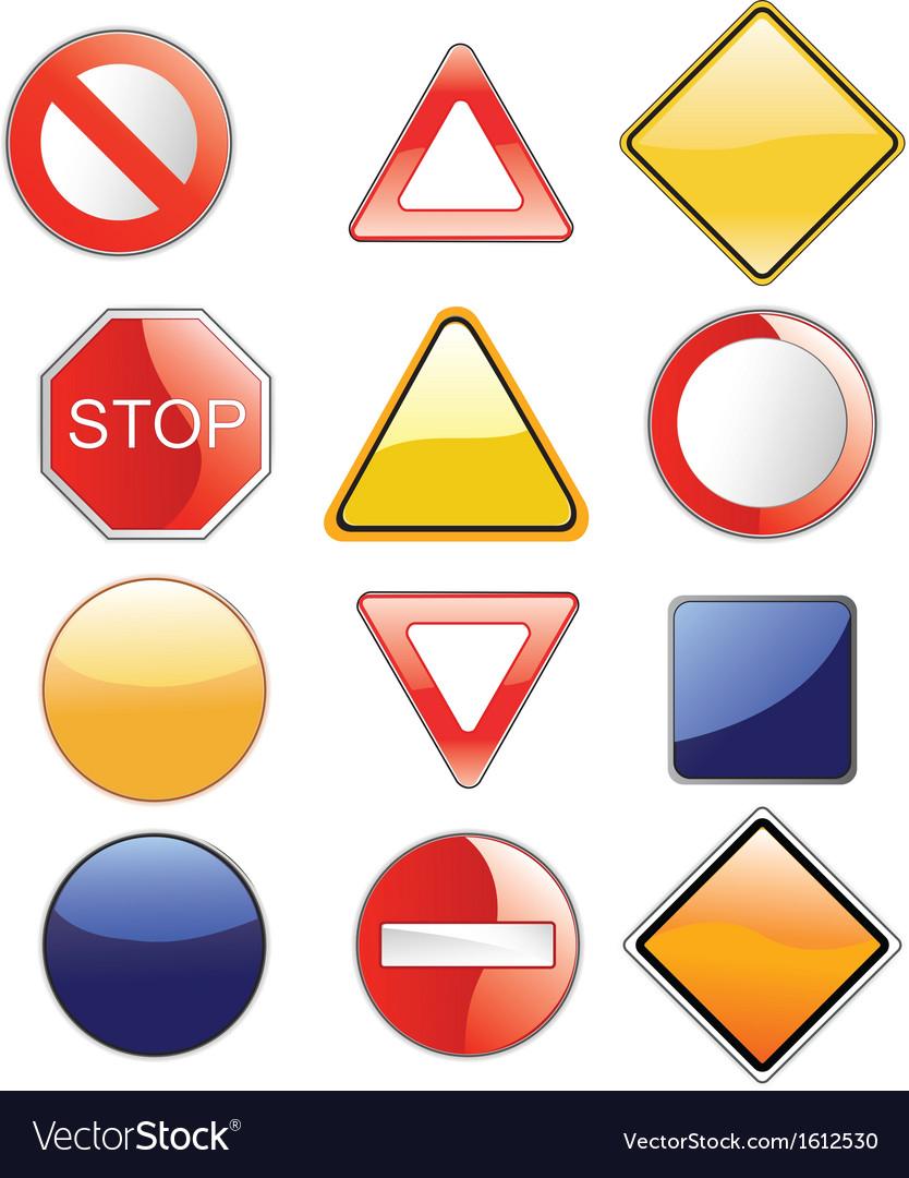 Road signs set vector   Price: 1 Credit (USD $1)