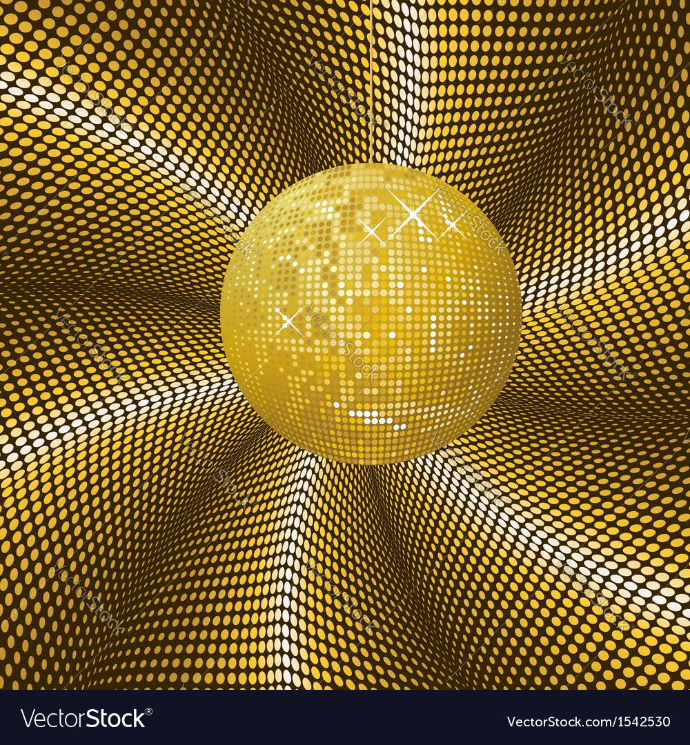 Sparkling gold disco ball vector | Price: 1 Credit (USD $1)
