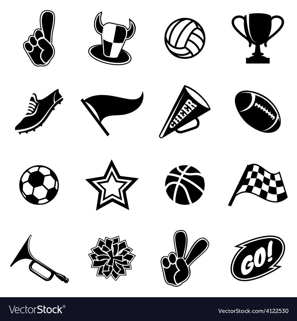 Sports icons and fans equipment vector | Price: 1 Credit (USD $1)