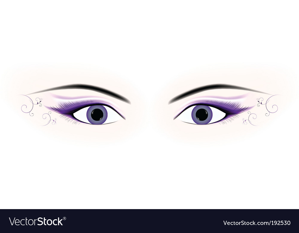 Woman eyes vector | Price: 1 Credit (USD $1)