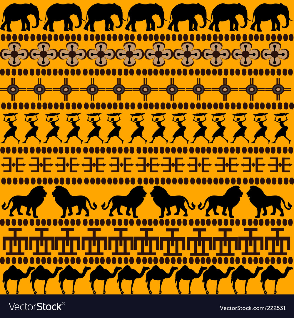 African motives vector | Price: 1 Credit (USD $1)
