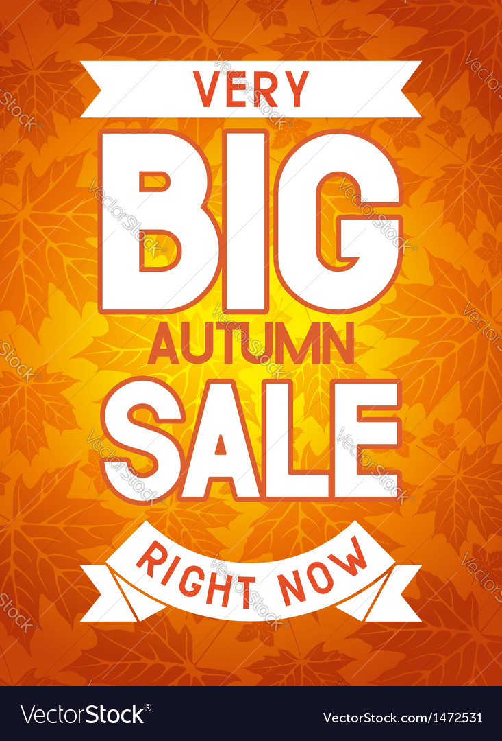 Autumn sale vector | Price: 1 Credit (USD $1)