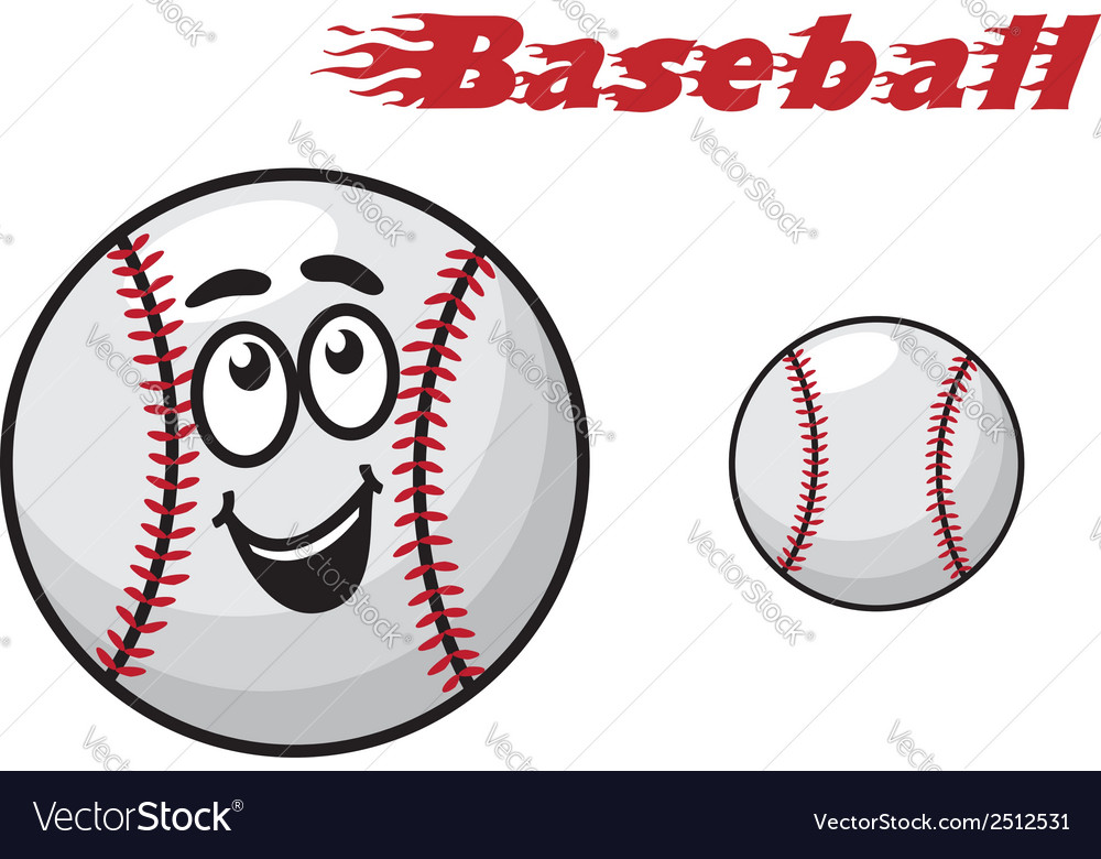 Baseball cartoon ball vector | Price: 1 Credit (USD $1)