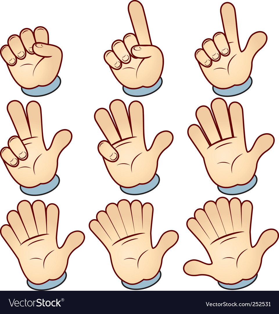 Hand count vector | Price: 3 Credit (USD $3)