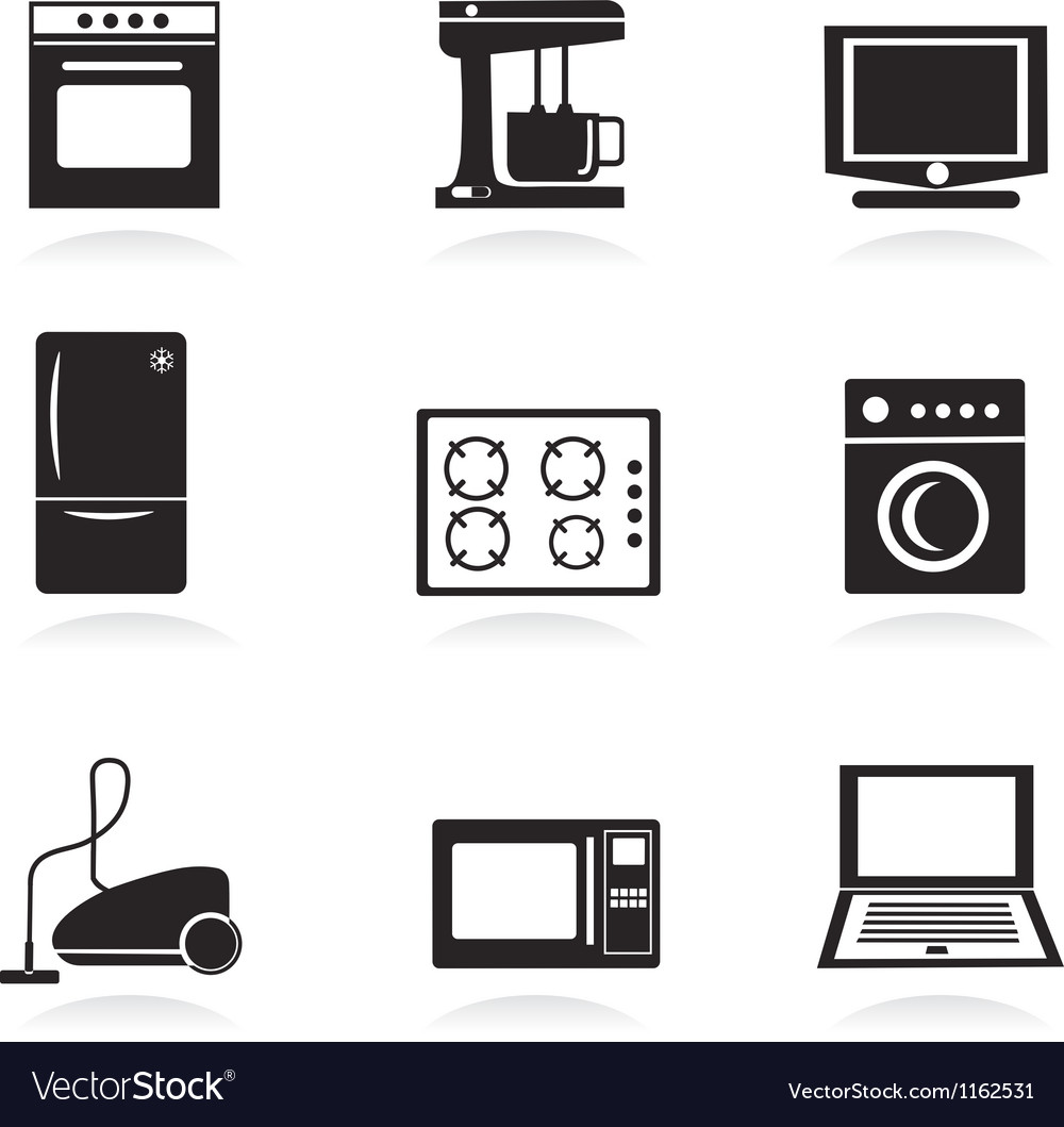 Home electrical appliances set vector | Price: 1 Credit (USD $1)