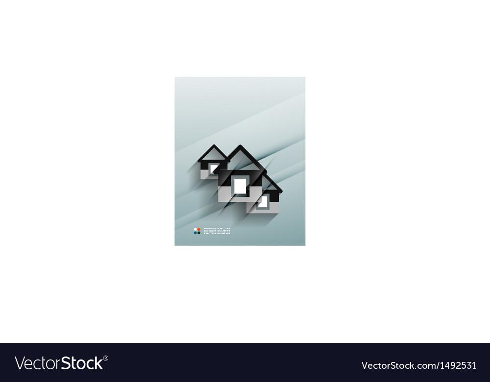 House icon 3d paper design vector   Price: 1 Credit (USD $1)