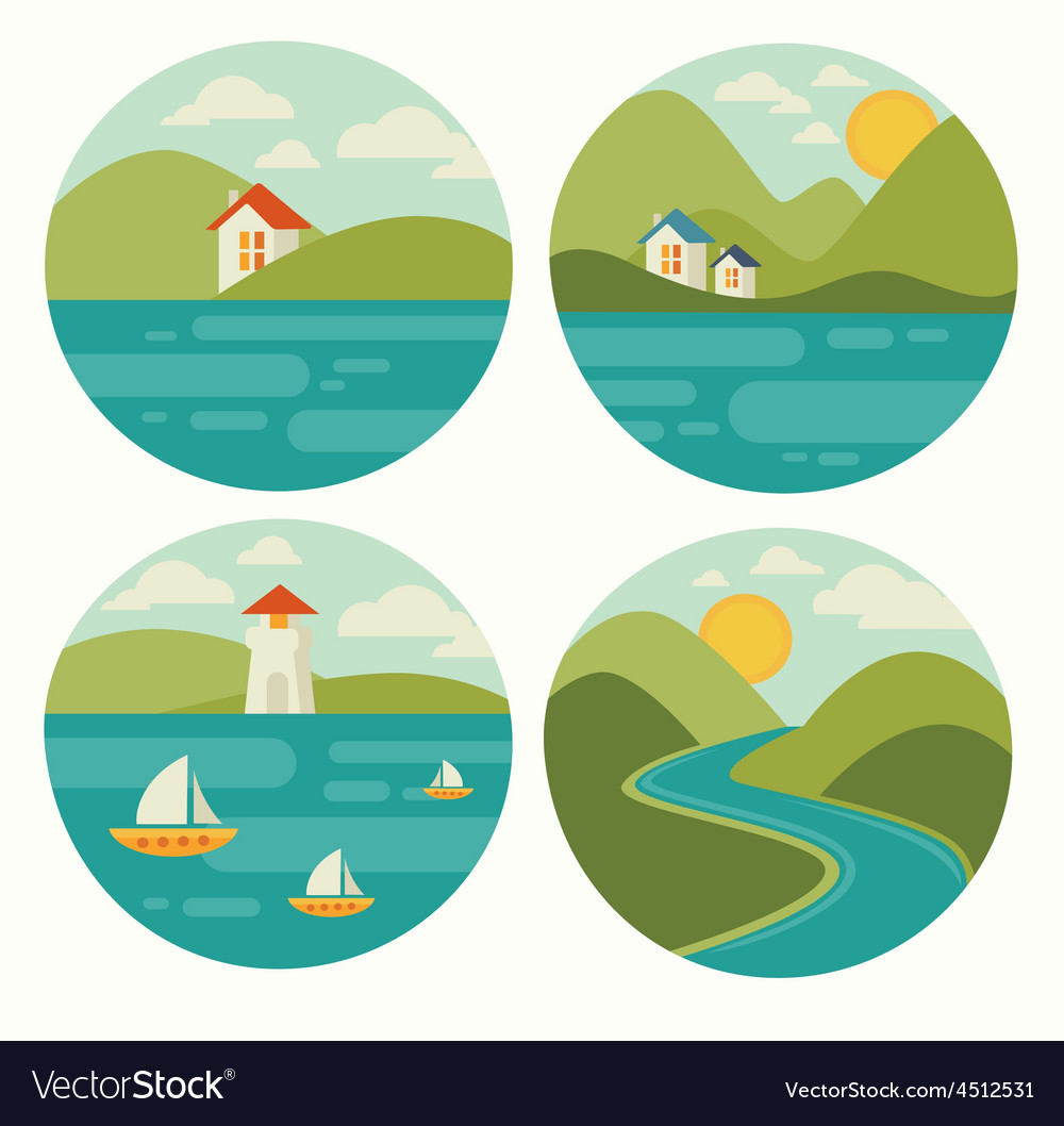 Landscape and nature vector | Price: 1 Credit (USD $1)