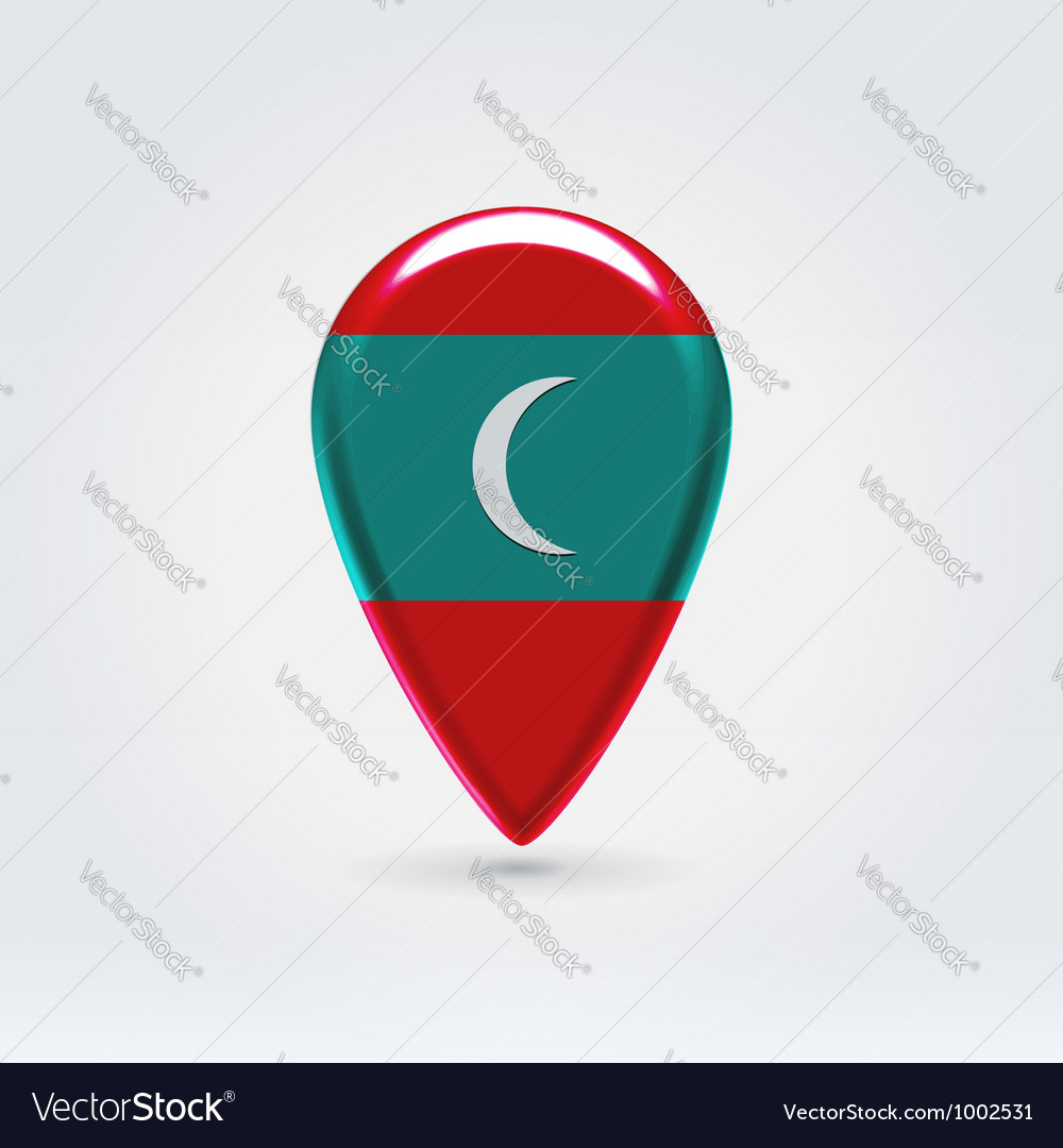 Maldivian icon point for map vector | Price:  Credit (USD $)