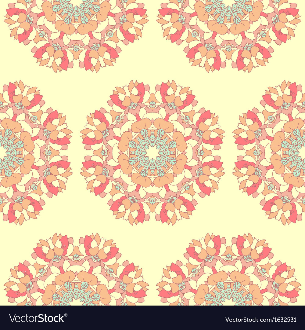 Seamles peony vector | Price: 1 Credit (USD $1)
