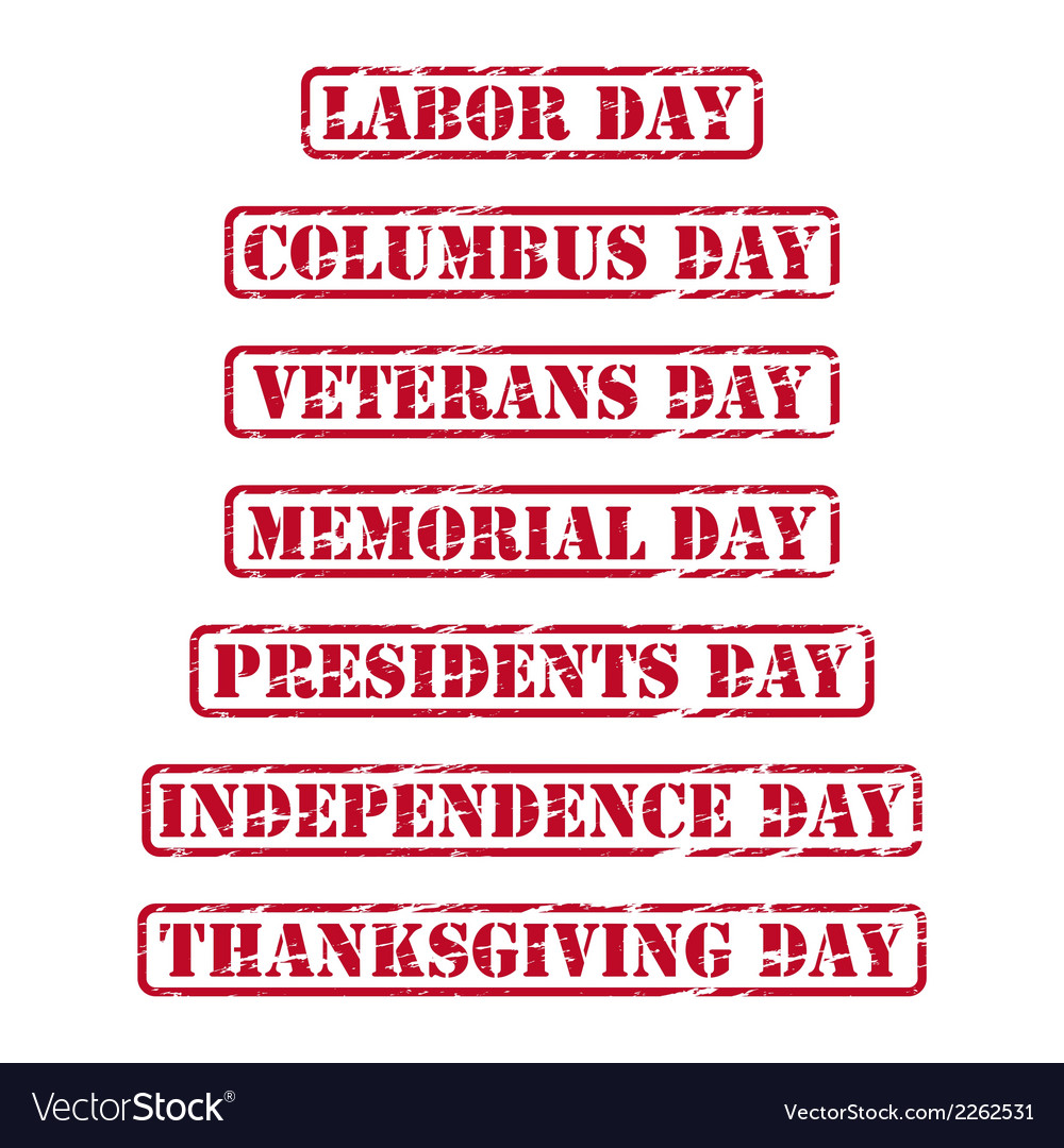 Usa holidays rubber stamps vector   Price: 1 Credit (USD $1)