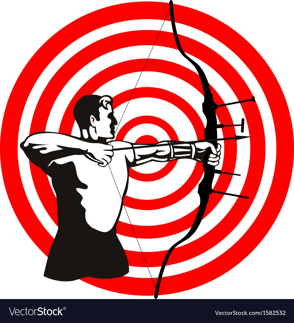 Archer bow arrow target vector | Price: 1 Credit (USD $1)