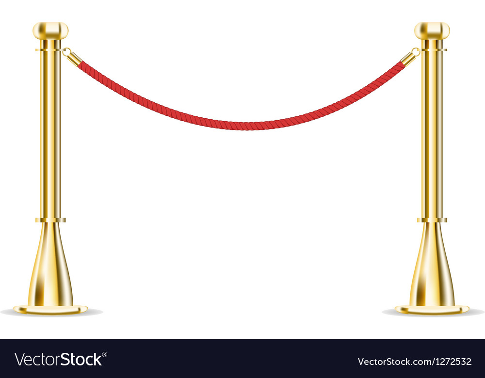 Barrier rope isolated on white vector | Price: 1 Credit (USD $1)